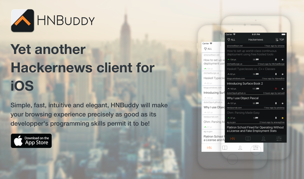 HNBuddy - Hackernews client for iOS